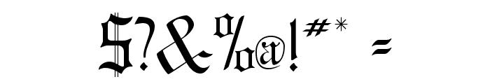 GregorianFLF Font OTHER CHARS
