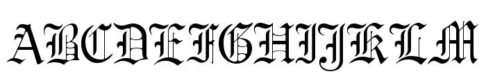 GregorianFLF Font UPPERCASE