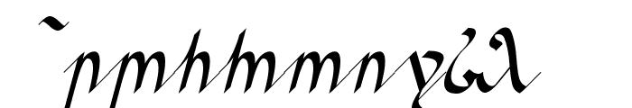 Greifswalder Tengwar Font OTHER CHARS