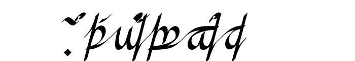Greifswalder Tengwar Font UPPERCASE