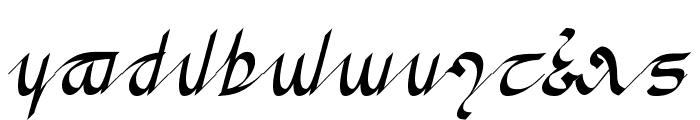 Greifswalder Tengwar Font LOWERCASE