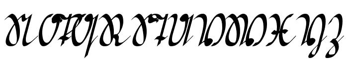Greifswaler Deutsche Schrift Font UPPERCASE