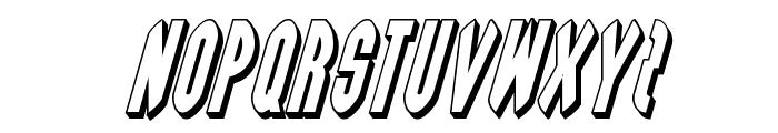 Grendel's Mother 3D Italic Font UPPERCASE