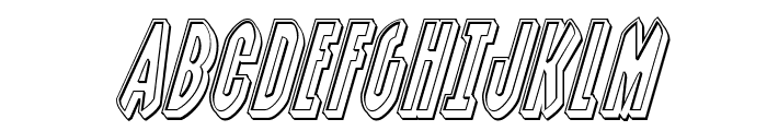 Grendel's Mother Engraved Italic Font UPPERCASE