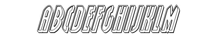 Grendel's Mother Engraved Italic Font LOWERCASE