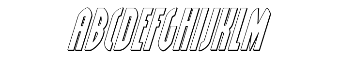 Grendel's Mother Shadow Italic Font LOWERCASE