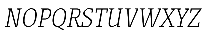 Grenze ExtraLight Italic Font UPPERCASE