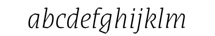Grenze ExtraLight Italic Font LOWERCASE