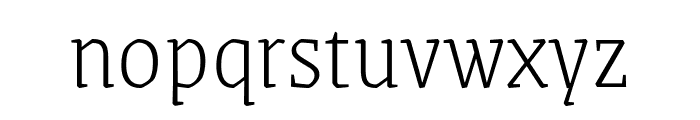 Grenze ExtraLight Font LOWERCASE