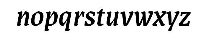 Grenze Medium Italic Font LOWERCASE
