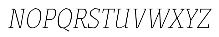 Grenze Thin Italic Font UPPERCASE