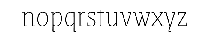 Grenze Thin Font LOWERCASE