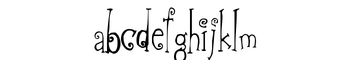 Greywolf Quirk Font LOWERCASE