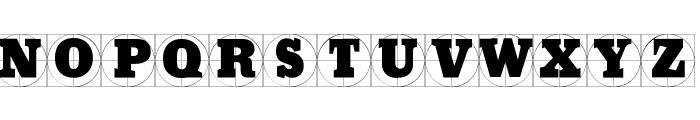 GridConcreteDue Font LOWERCASE