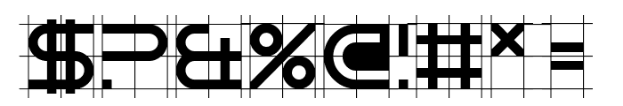 Gridget Font OTHER CHARS