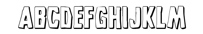 Grim Ghost 3D Regular Font LOWERCASE