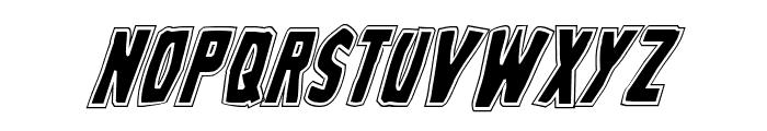 Grim Ghost College Italic Font UPPERCASE