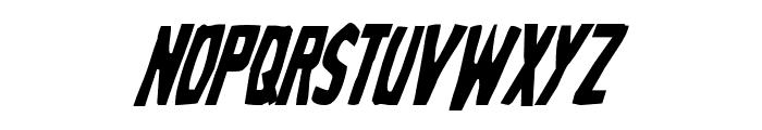 Grim Ghost Condensed Italic Font UPPERCASE