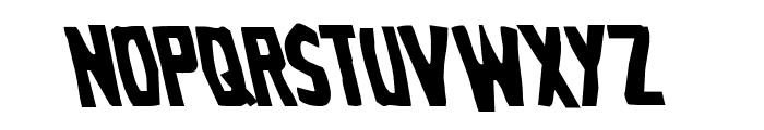 Grim Ghost Leftalic Font UPPERCASE