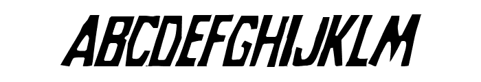 Grim Ghost Light Italic Font UPPERCASE