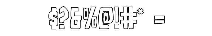 Grim Ghost Outline Regular Font OTHER CHARS