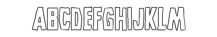 Grim Ghost Outline Regular Font UPPERCASE