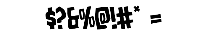 Grim Ghost Rotated Font OTHER CHARS