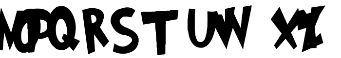 Grinched Font UPPERCASE