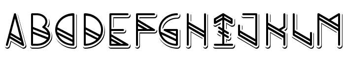 Grind shadow Font LOWERCASE