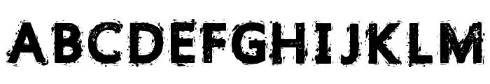 Gristled Font Regular Font UPPERCASE