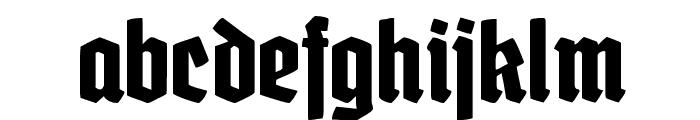 GrobeDeutschmeister Font LOWERCASE
