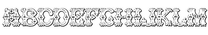Grolier Beveled Font UPPERCASE