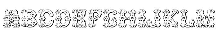Grolier Beveled Font LOWERCASE