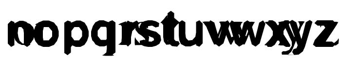 GrossAkzidentFucked Font LOWERCASE