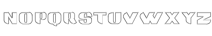 Grotesca 3-D Font LOWERCASE
