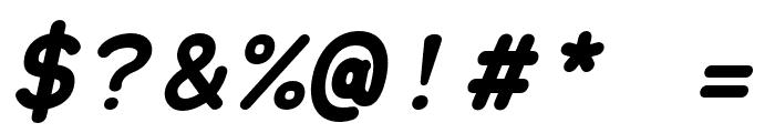 Grqalir-BoldItalic Font OTHER CHARS