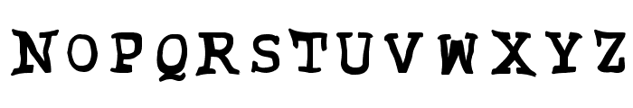 Grubby Font UPPERCASE