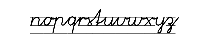 Gruenewald VA 1. Klasse Font LOWERCASE