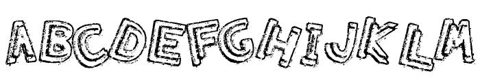 Grumbling Effect Font UPPERCASE