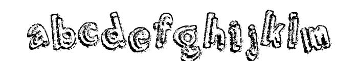 Grumbling Effect Font LOWERCASE