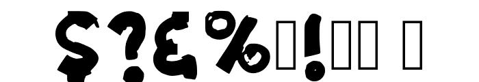 Grunge Band Regular Font OTHER CHARS