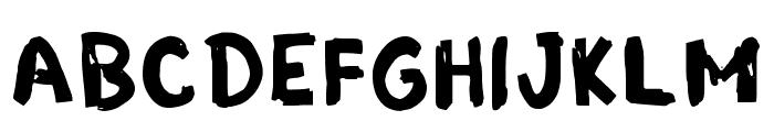 Grunge Band Regular Font UPPERCASE