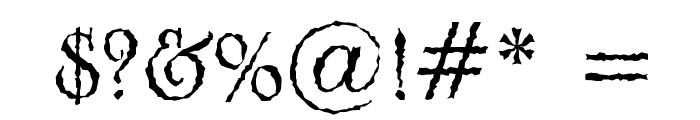 Grunge Caltek Bold Font OTHER CHARS