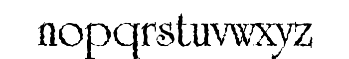 Grunge Caltek Bold Font LOWERCASE