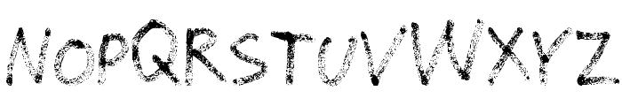Grunge Handwriting Font UPPERCASE