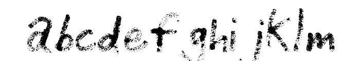 Grunge Handwriting Font LOWERCASE