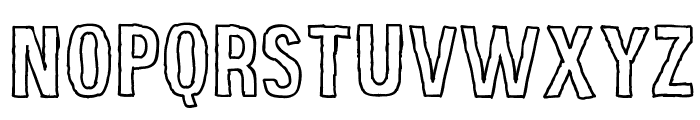 Grunge Poster Font UPPERCASE