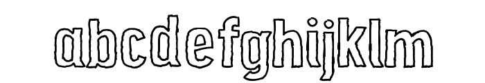 Grunge Poster Font LOWERCASE