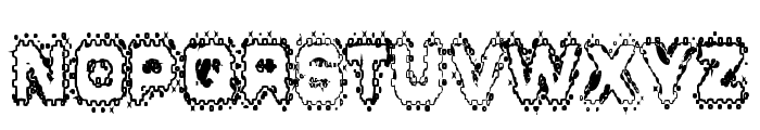 Grunge Puddles Font UPPERCASE