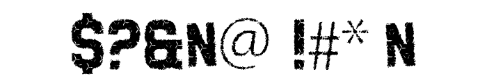 Grunge Tank Font OTHER CHARS